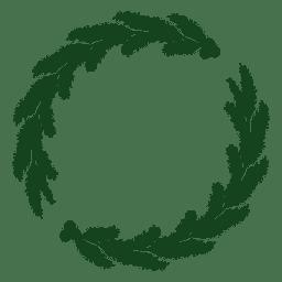 Guirnalda navideña silueta verde 20