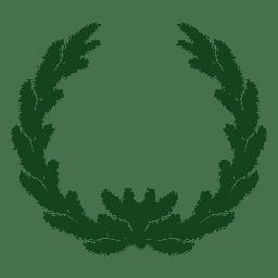 Guirnalda navideña silueta verde 21