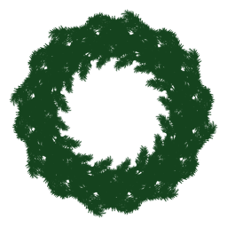 Christmas wreath green silhouette 22