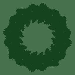 Guirnalda de Navidad verde silueta 22