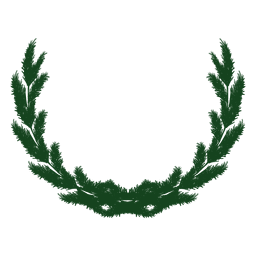 Christmas wreath green silhouette 23