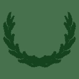 Guirnalda de Navidad verde silueta 23