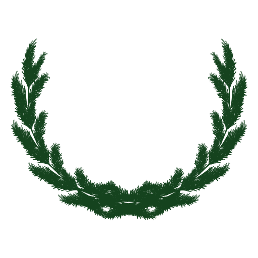 Guirnalda de Navidad verde silueta 23 Transparent PNG