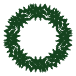 Christmas wreath green silhouette 24