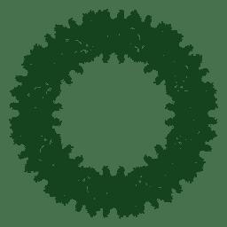 Guirnalda de Navidad verde silueta 24