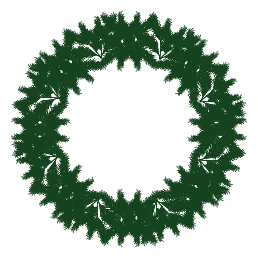 Christmas Wreath Silhouette.Christmas Wreath Green Silhouette 24 Transparent Png Svg