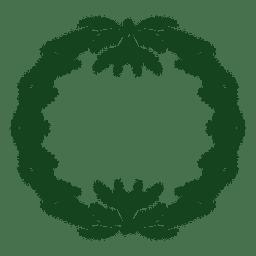 Corona de Navidad icono verde de la silueta 15
