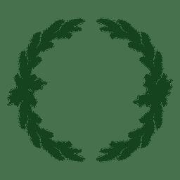 Guirnalda de Navidad icono de silueta verde 7