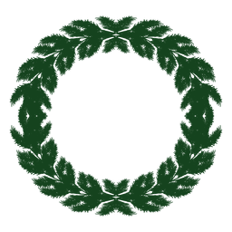 Christmas wreath green silhouette icon 9