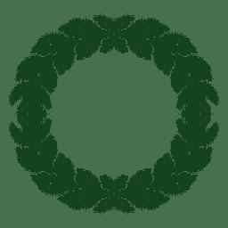 Guirnalda de Navidad icono de silueta verde 9