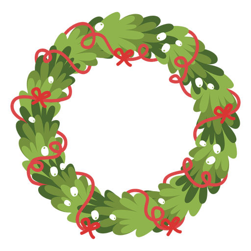 Christmas wreath icon 1 - Transparent PNG & SVG vector