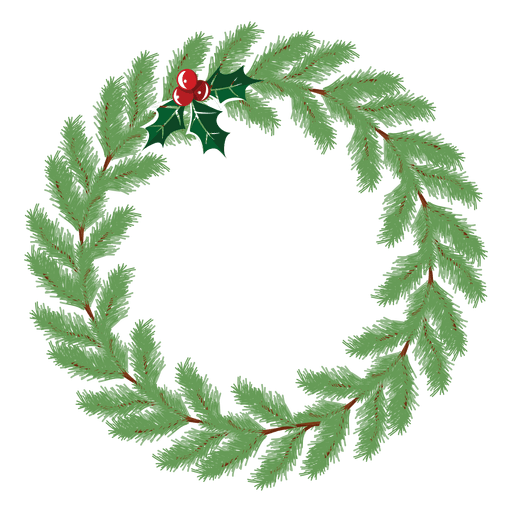 Christmas wreath icon 25 - Transparent PNG & SVG vector file