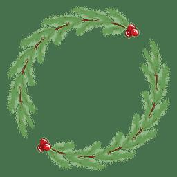 Marco de guirnalda de Navidad simple
