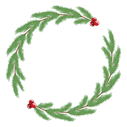 Simple christmas wreath frame