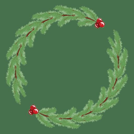 Marco de guirnalda de Navidad simple Transparent PNG
