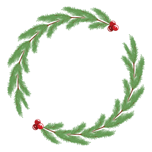 Simple christmas wreath frame - Transparent PNG & SVG vector