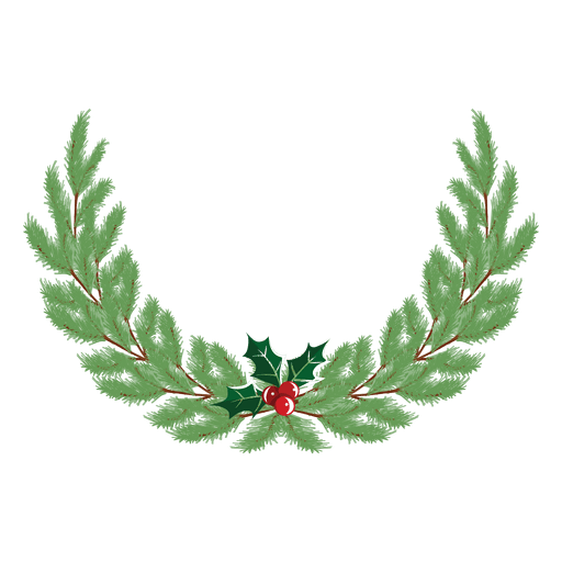 Christmas wreath icon 36 - Transparent PNG & SVG vector