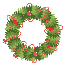 Christmas wreath red bows icon 13