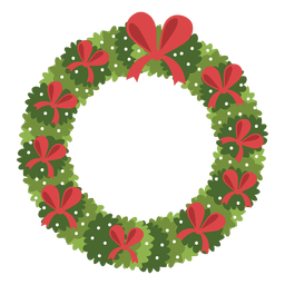 Christmas wreath red bows icon 3
