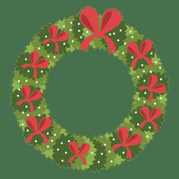 Guirnalda de Navidad icono de arcos rojos 3