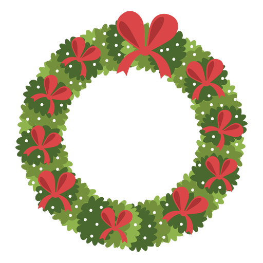 Christmas wreath red bows icon 3 Transparent PNG