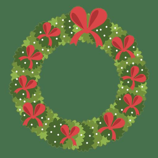 Corona de Navidad icono de arcos de color rojo 3 - Descargar PNG/SVG ...