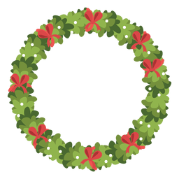 Christmas wreath red bows icon 5