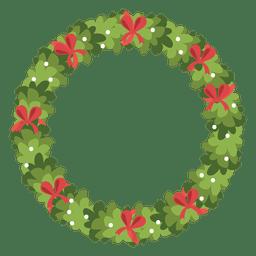 Corona de Navidad icono de arcos de color rojo 5