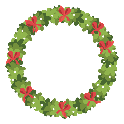 Christmas wreath red bows icon 5 Transparent PNG