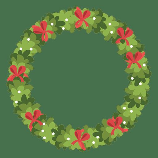 Corona de Navidad icono de arcos de color rojo 5 - Descargar PNG/SVG ...