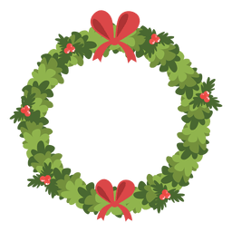Christmas wreath red bows icon 6