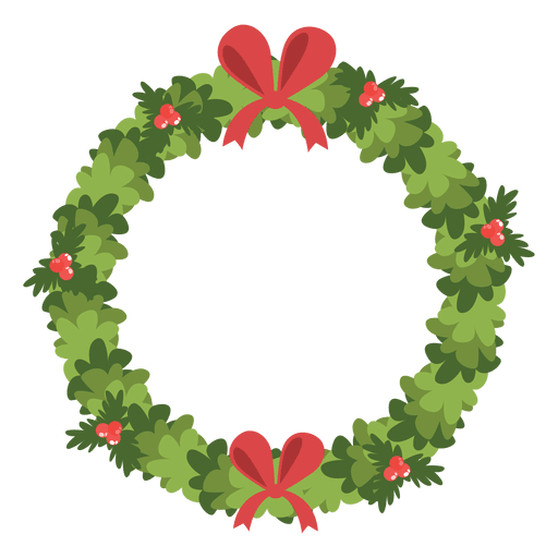 Christmas wreath red bows icon 6 - Transparent PNG & SVG ...