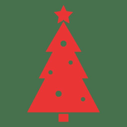 christmas tree flat icon red png - Flat Christmas Tree