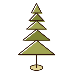 Christmas tree triangles cartoon icon 7