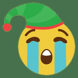 Llorando elfo sombrero cara emoticon 1