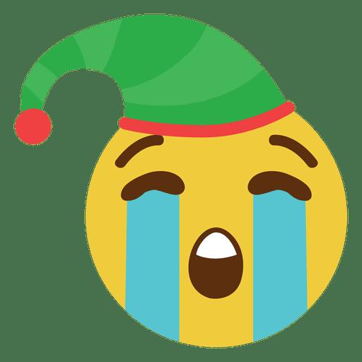 Llorando elfo sombrero cara emoticon 1 Transparent PNG