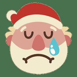 Crying santa claus face emoticon 61