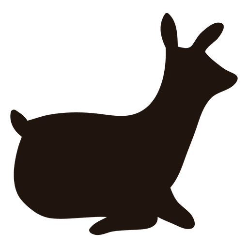 Deer silhouette laying 49 Transparent PNG