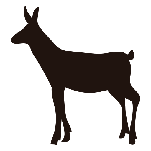 Deer silhouette standing 54 Transparent PNG