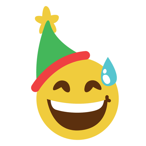 Sonrisa avergonzada elfo sombrero cara emoticon 14 Transparent PNG