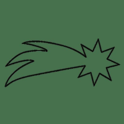 Icono de trazo estrella descendente 02 Transparent PNG