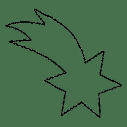 sternschnuppensymbol 03  transparenter png und svgvektor