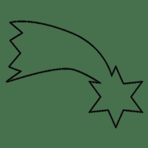 Icono de trazo estrella descendente 04 Transparent PNG