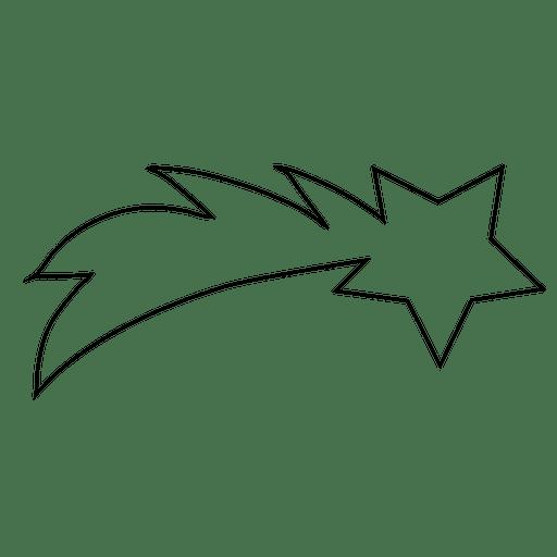 Icono de trazo estrella descendente 05 Transparent PNG