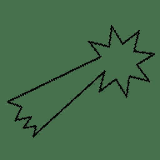 Icono de trazo estrella fugaz 08 Transparent PNG