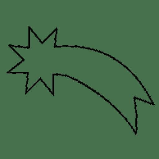 Icono de trazo estrella descendente 09 Transparent PNG
