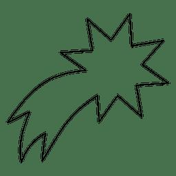 Icono de trazo estrella descendente 10