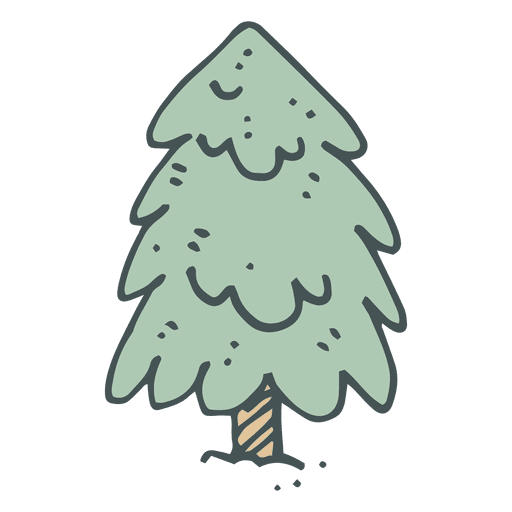 Fir Tree Hand Drawn Cartoon Icon 2 Transparent PNG