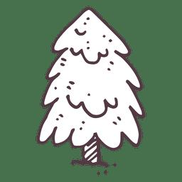 Fir tree hand drawn icon 19