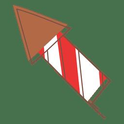 Ícone dos desenhos animados de fogo de artifício 76